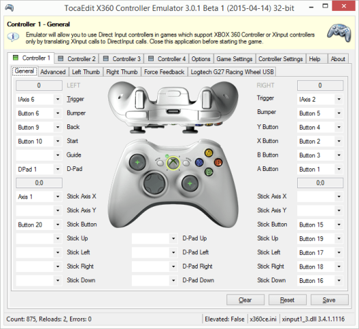 TocaEdit Xbox 360 Controller Emulator (2017) – Game s World NEWS